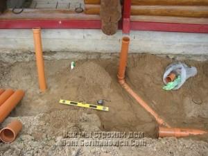Трубы можно прокладывать под любым углом