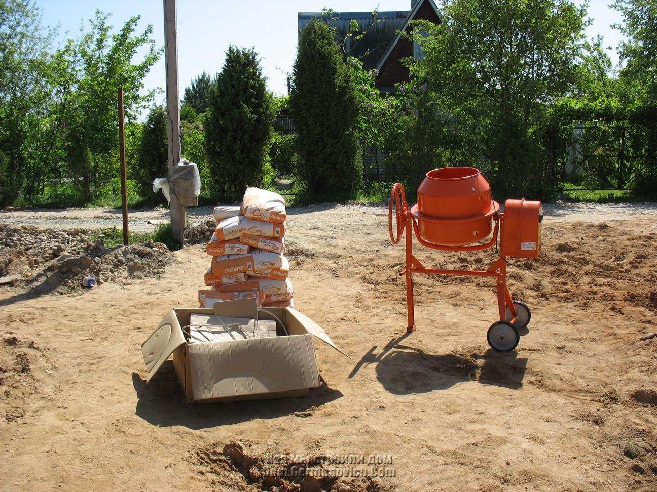 Как замесить большое количество бетона своими руками 86
