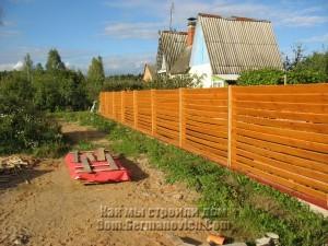 Забор покрашен