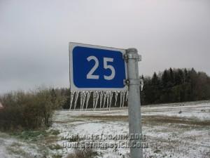 Косые сосульки на дорожном знаке