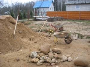 Крупные камни в привезенной ПГС
