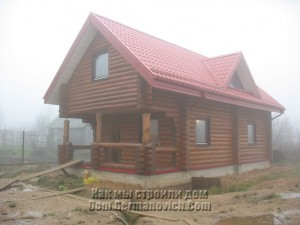 Дом после установки окон