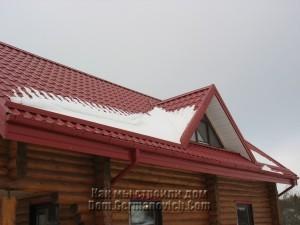 Снег на крыше - причина образования конденсата под металлочерепицей