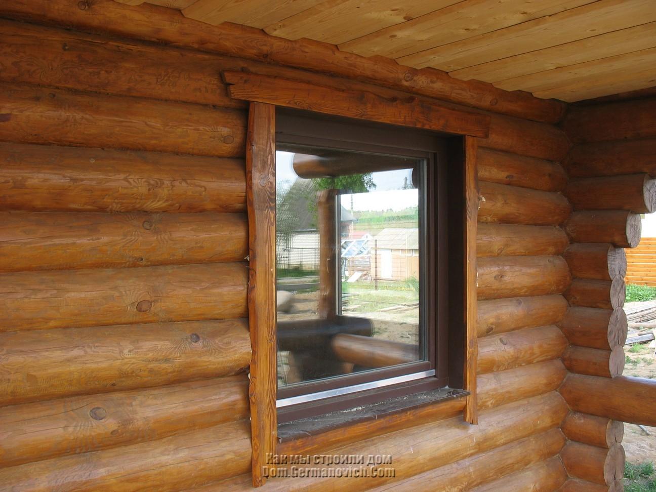 Установка окон в деревянном доме своими руками фото