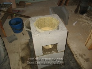 Установка теплоизоляционного мата в дымоходе
