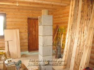 Установлен отвод для подключения дымохода от камина