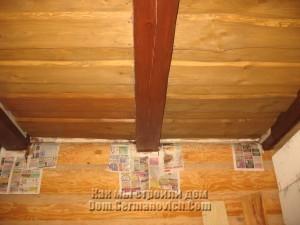 Эксперименты с краской на потолке в прихожей