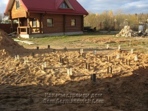 Засыпка песком площадки под детским городком