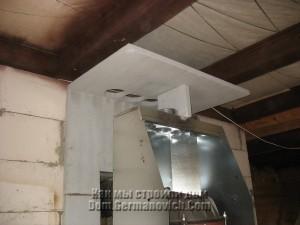 Крыша облицовки с отверстиями для воздуховодов