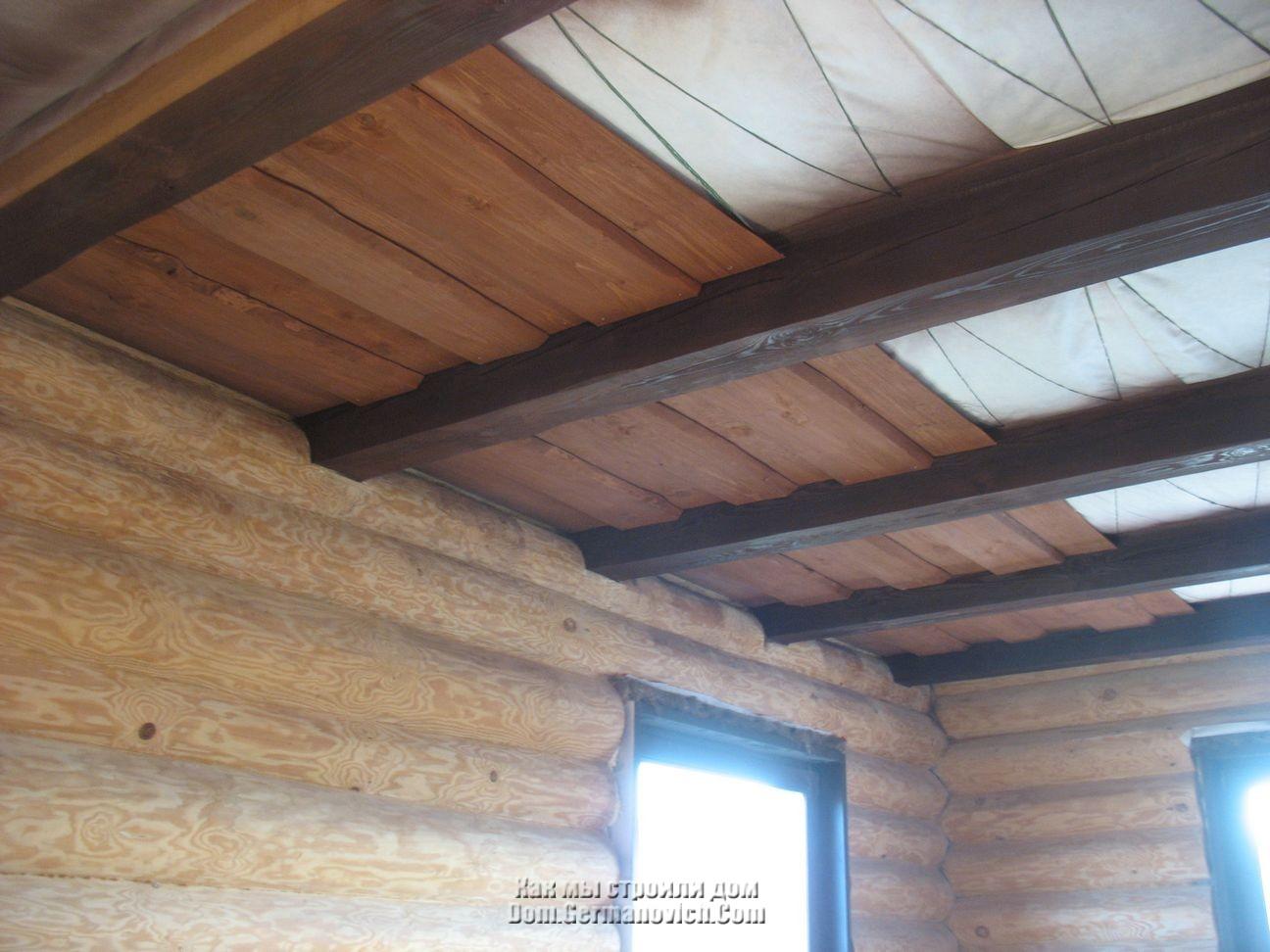 Как сделать потолок из евровагонки? Конструкция 1