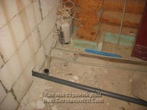 Подключение водопровода к наружной трубе