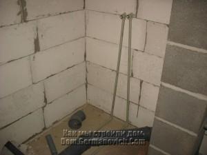 Подвод воды к смесителю в душе