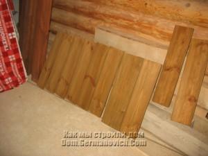 Ступени для лестницы сохнут после покраски
