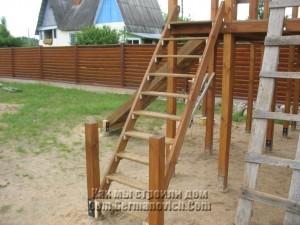 Лестница для детского городка