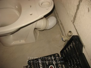 Сразу подключили унитаз к канализации