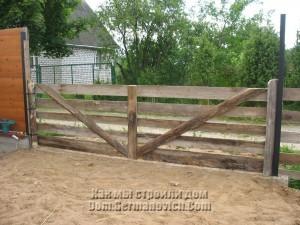 Укосины для укрепления створки ворот