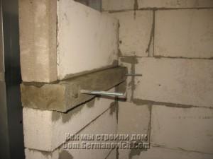 Закладная балка каминной полки номер два