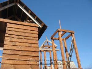 Стропила башен детского городка